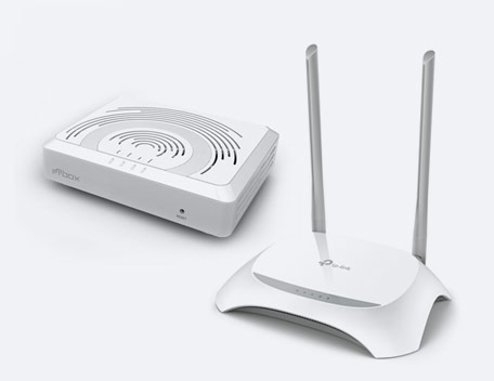 Router INNBOX G2301 ONT И TP-LINK TL-WR840N