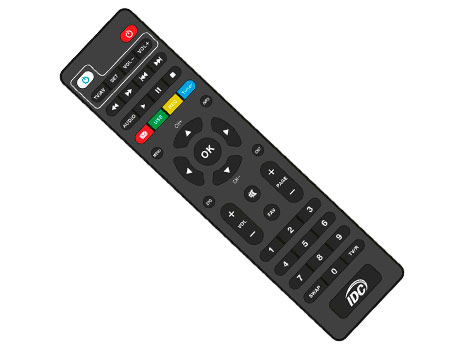 Remote control DVB-C/T2